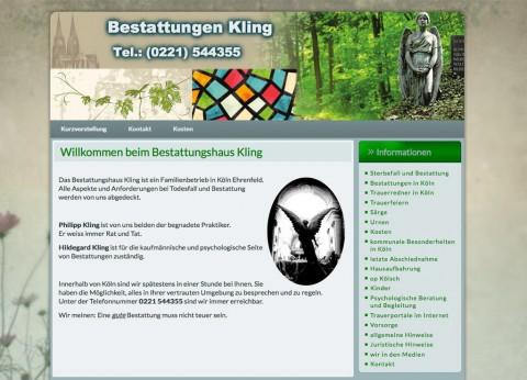 Bestattungshaus Kling in Köln Ehrenfeld in 50825 Köln