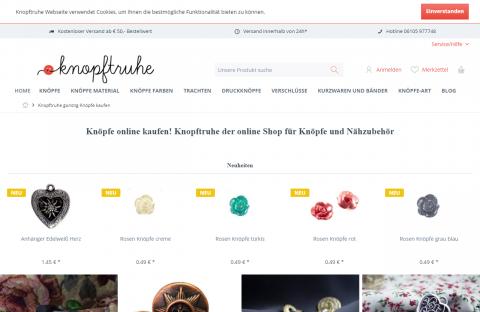 Günstig online Knöpfe kaufen auf knopftruhe.de in Mörfelden-Walldorf