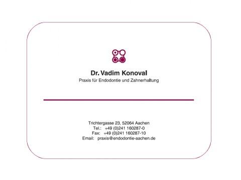 Praxis für Endodontie und Zahnerhaltung Dr. Vadim Konoval in Aachen in Aachen
