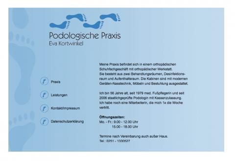 Die Praxis für Podologie Kortwinkel in Münster: Behandlung mit Nasstechnik in Münster