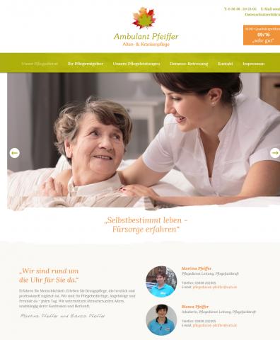 Selbstbestimmt im Alter – Ambulanter Pflegedienst Pfeiffer in Bergen auf Rügen  in Bergen auf Rügen