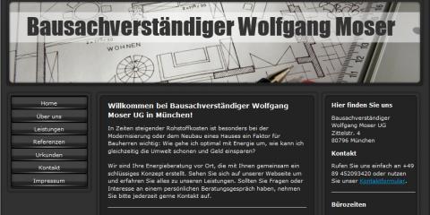 Bausachverständiger in München: Dipl.-Ing. (FH) Wolfgang Moser  in München