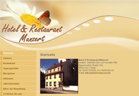 Hotel und Restaurant Munzert in Hof/Saale in Hof/Saale
