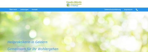 Fußpflege in Geldern – Naturheilkunde- und Fußpflegepraxis Claudia Müncks in Geldern
