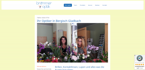 Hochwertige Brillen in Bergisch Gladbach: Brümmer Optik in Bergisch Gladbach (Heidkamp)