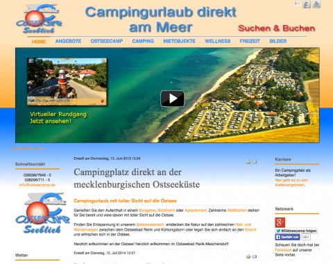 Ostseecamp Seeblick Lange & Pönitz - Camping Ostsee in Ostseebad Rerik