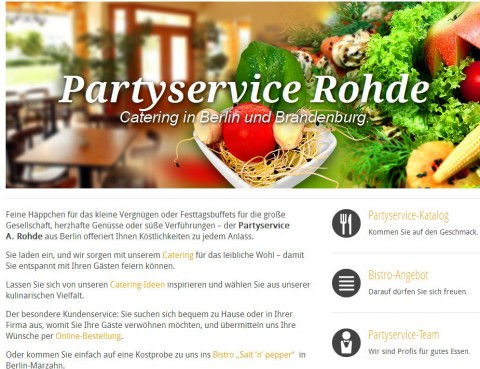 Partyservice A. Rohde GmbH in Berlin in Berlin