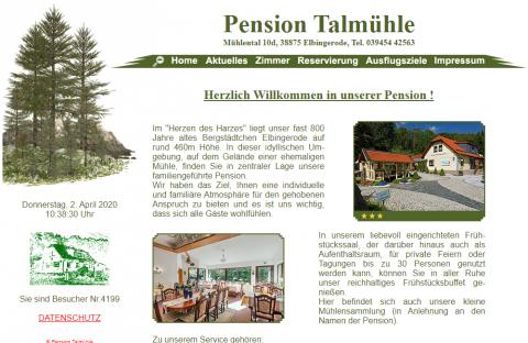 Die perfekte Unterkunft im Harz: Pension Talmühle in Elbingerode