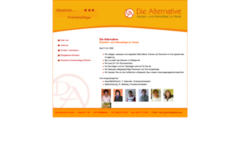 Altenpflege in Mülheim: Die Alternative GmbH in Mülheim an der Ruhr
