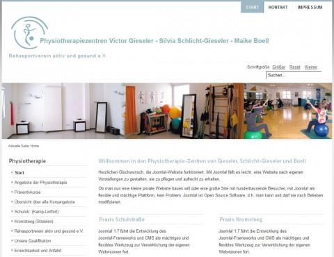Physiotherapiezentren Victor Gieseler, Silvia Schlicht-Gieseler, Maike Boell in Kamp-Lintfort in Kamp-Lintfort