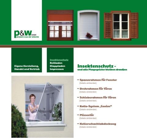 Rollladen und Insektenschutz in Duisburg: p&w GmbH in Duisburg