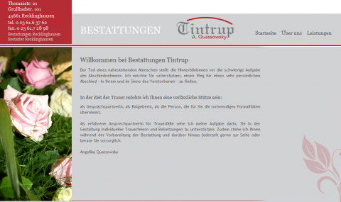 Bestattungen in Recklinghausen: Tintrup in Recklinghausen