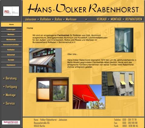 Hans-Volker Rabenhorst: Ihr Fachbetrieb für Rollläden in Berlin in Berlin