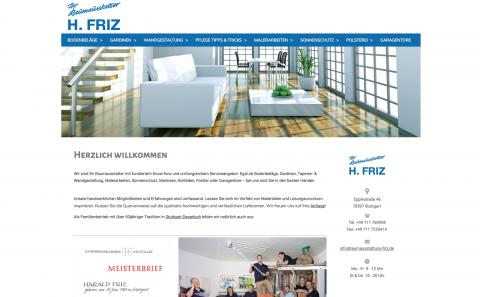 H. Friz – Stuttgarts Raumausstatter ist kreativ und präzise am Werk in Stuttgart