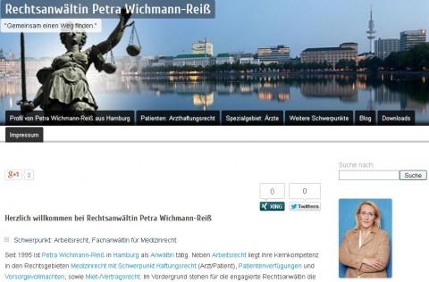 Arzthaftungsrecht - Rechtsanwaltskanzlei Petra Wichmann-Reiß in Hamburg in Hamburg