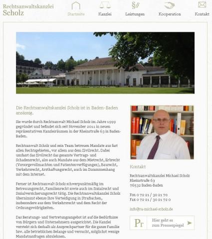 Rechtsanwaltskanzlei Scholz in Baden-Baden in Baden-Baden
