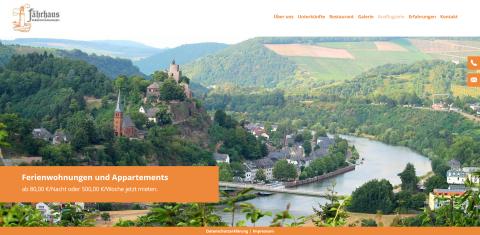 Für einen Traum-Urlaub in Saarburg: Fährhaus Ferienwohnungen in Saarburg
