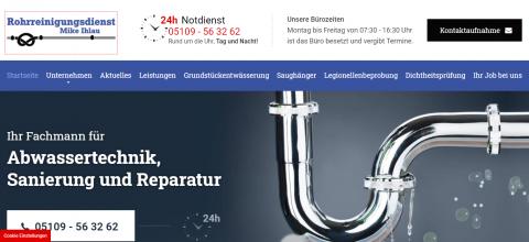 Der Experte für Ihre Rohre in Ronnenberg: Rohrreinigungsdienst Mike Ihlau in Ronnenberg