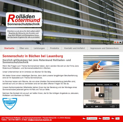 Jens Rotermund Rollladen- und Sonnenschutztechnik in Büchen in Büchen