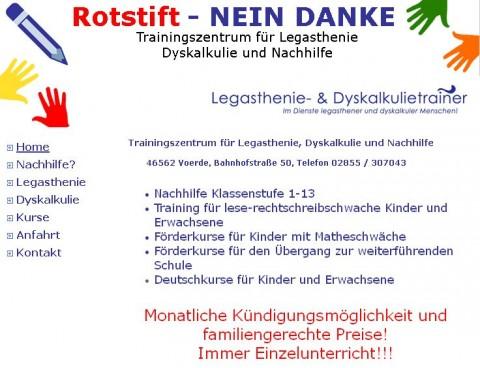 Rotstift – NEIN DANKE Trainingszentrum für Legasthenie, Dyskalkulie und Nachhilfe in Voerde in Voerde