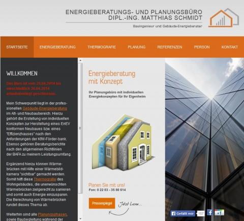 Dipl.- Ing. Matthias Schmidt – Energieberater in Köln in  Köln