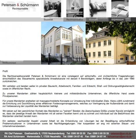 Rechtsanwälte Petersen & Schürmann in Neubrandenburg in Neubrandenburg