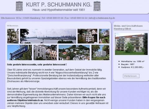 Kurt P. Schuhmann KG. Hausmakler in Hamburg in Hamburg