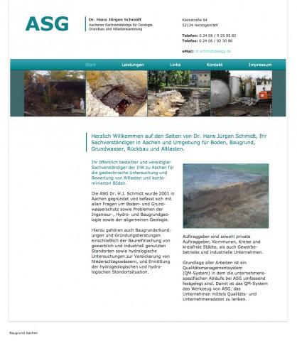 Altlastensanierung: -ASG- Dr. Hans Jürgen Schmidt in Herzogenrath