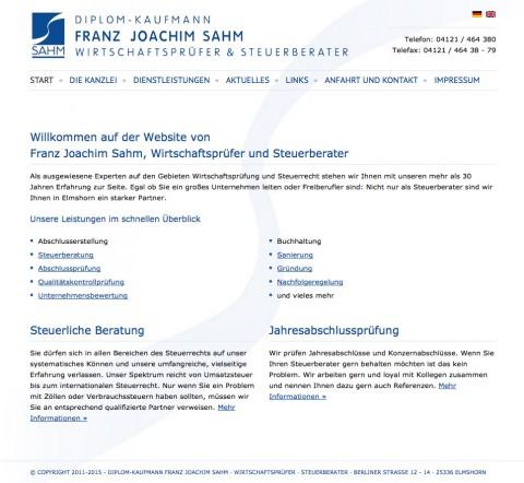 Wirtschaftsprüfer und Steuerberater in Elmshorn: Dipl.-Kfm. Franz Joachim Sahm  in Elmshorn
