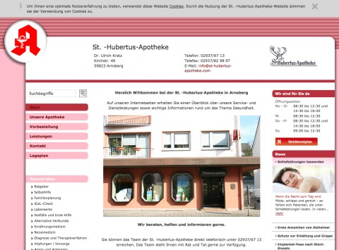 Apotheke in Arnsberg: St.-Hubertus-Apotheke, Ulrich Kratz e. K.  in Arnsberg