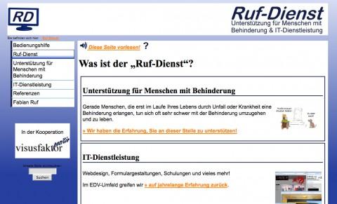 Hilfen für Menschen mit Behinderung: Ruf-Dienst UG (haftungsbeschränkt) in Bühl in Bühl