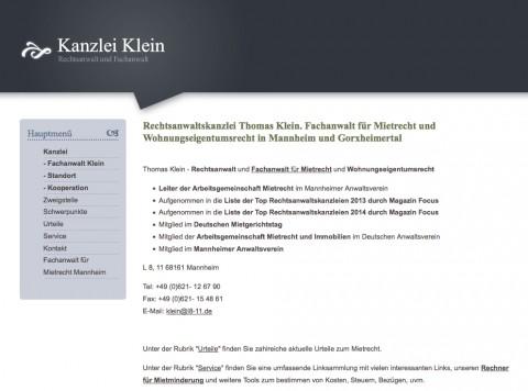 Mietrecht in Mannheim: Thomas Klein Fachanwalt für Mietrecht  in Mannheim