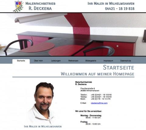 Maler in Wilhelmshaven: Malerfachbetrieb R. Deckena in Wilhelmshaven