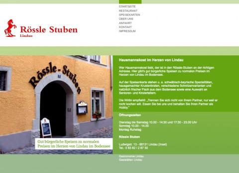 Speisegaststätte in Lindau: Gaststätte Rössle-Stuben in Lindau