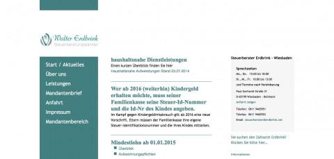 Steuerberatungskanzlei in Wiesbaden: Steuerberater Walter Erdbrink in Wiesbaden-Kohlheck