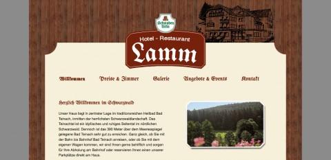 Hotel und Restaurant Lamm in Bad Teinach in Bad Teinach