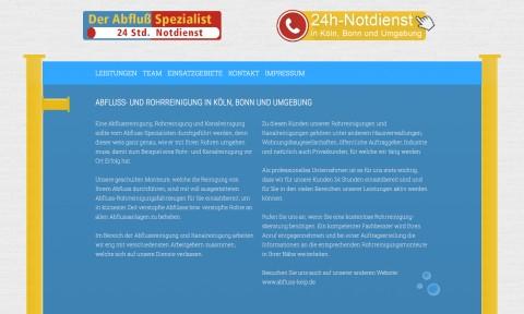 Abflussreinigung in Köln: Rohr- und Kanalreiniger Andreas Max Keip in Köln
