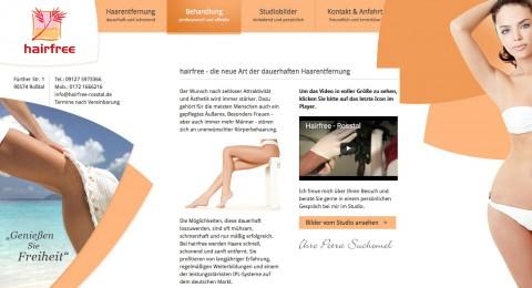 Dauerhaft seidig glatte Haut: Haarentfernung im Studio hairfree in Roßtal in Roßtal