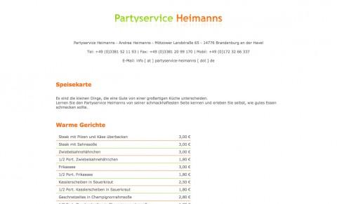 Partyservice und Restaurant in Brandenburg an der Havel: Partyservice Heimanns  in Brandenburg an der Havel