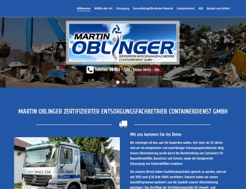 Oblinger Zertifizierter Entsorgungsfachbetrieb Containerdienst GmbH in Pförring