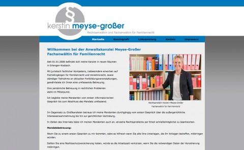 Fachanwältin für Familienrecht in Erlangen: Rechtsanwältin Kerstin Meyse-Großer  in Erlangen