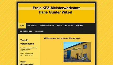 Autoreparatur in Grimmen: Freie KFZ-Meisterwerkstatt Witzel  in Grimmen