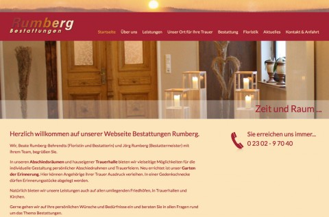 Kompetenter Bestatter in Witten: Bestattungen Rumberg in Witten Herbede