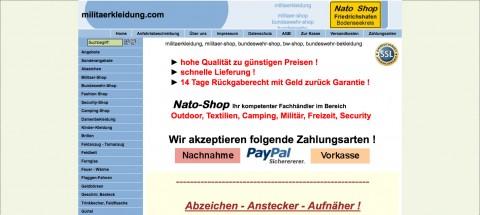 Militärkleidung in Deutschland: Nato-Shop aus Friedrichshafen  in Friedrichshafen