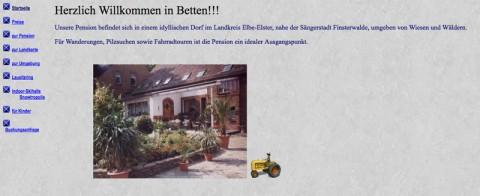 Übernachten in der Idylle: Pension Beege bei Finsterwalde  in Betten