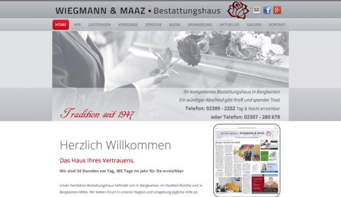 Bestatter in Bergkamen: Bestattungshaus Wiegmann & Maaz GbR in Bergkamen