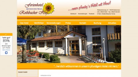 Übernachtungen in Bodenmais: Ferienhotel Rothbacher Hof  in Bodenmais