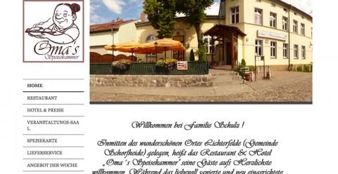 Traditionelles Hotel und Restaurant nahe Eberswalde: Oma's Speisekammer in Lichterfelde in Schorfheide