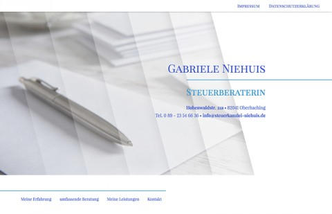 Steuerberaterin in Oberhaching: Gabriele Niehuis in Deisenhofen