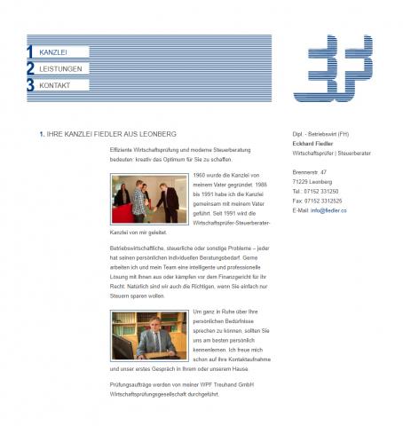 Kompetente Steuerberatung – Kanzlei Fiedler in Leonberg in Leonberg